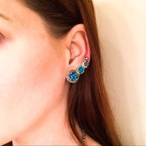 Kendra Scott Carolyn Ear climber cuff jewel Blue